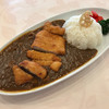 ボンジュール - 料理写真:自家製飛騨牛カレーと旨豚肉カツレツ