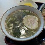 らーめん 菊次郎 - らーめん 菊次郎 「セットのスープ」