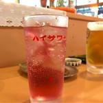おる商店 - *赤しそサワー(¥500)
