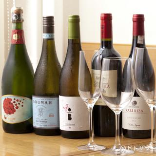 フランス産からニューワールドまで、世界各国のワインが集結