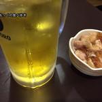 やまと - 緑茶ハイ130円、お通し