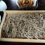 山家茶屋 丸新 - 料理写真:板そばにゲソ天1300円