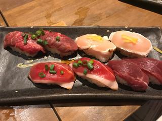 横浜 肉寿司 - 肉寿司四種盛り