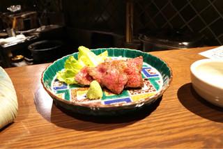 ぽんしゅや 三徳六味 - ☆佐賀牛 イチボ炭火焼き 1480円