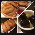 ローストビーフ&チーズフォンデュ食べ放題ダイニングビアバー ウォルトンズ  - 春巻き・フライドポテト&オニオン・オリーブ