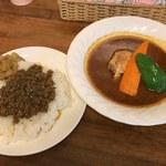 スープカレー カムイ - 「खाना咖喱三昧(カーナカリーざんまい)」1,300円
