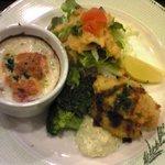 洋食の家 キャベツ - カキフライとミニグラタン
