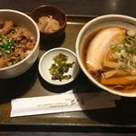 膳 - Aセット ミニ豚カルビ丼、ミニラーメン