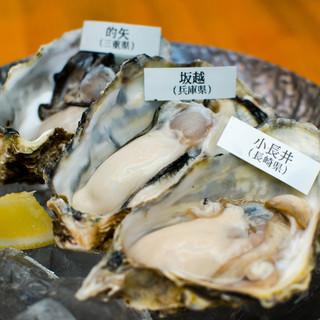 ◎本日のオススメ◎生牡蠣3種で産地の違いを楽しんで!