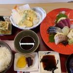 旬彩居酒屋 古市 つぼ銀 - 刺身定食@1,300
