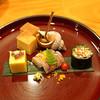Takamura - 料理写真:前菜 1 玉子焼、バイ貝旨煮、きび寄せ、江戸前コハダの磯辺酢、唐墨蝦蛄、マイクロトマト