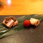 日本料理 たかむら - 焼物 秋田産もち豚 サマートリュフのせ