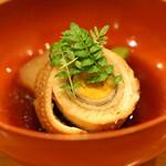 日本料理 たかむら - 煮物 龍眼穴子 冬瓜と万願寺唐辛子