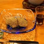 日本料理 たかむら - デザート 特製水餅 黒蜜かけ