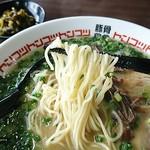 豚骨食堂 - ネギラーメンの麺