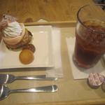 アン グラン メルシー - 料理写真:桃のシューキャラメルとアイスティー