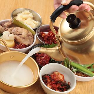 韓国料理といえば《マッコリ!!》他各種ドリンクございます!