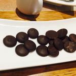 ikor - コーヒーに付いてくるチョコレート