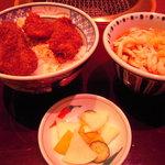 萬家 - ソースカツ丼セット