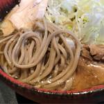 焔蔵 - 冷たい肉そばの蕎麦