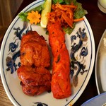 天然アジア料理エバーグリーン - タンドリーチキンとシークカバブ