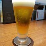とんかつ和幸 シャポー小岩店 - グラスビール(378円)