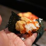 山さん寿司 - 海苔が付いてくるので手巻きも可能☆