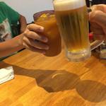 71999351 - 生ビールとオレンジジュースで乾杯