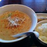 南湖 - 坦々麺セット(750円)