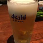 こがね屋 - 生ビール:アサヒスーパードライ