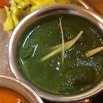やっぱりインディア - ほうれん草チキン これ特に好き。