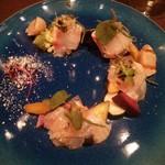 Osuteriayururi - 本日の鮮魚のカルパッチョ マリネ野菜と共に