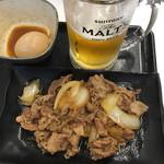 吉野家 - 牛皿セット(500)に味玉