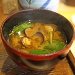 秋田 てんぷら みかわ - 味噌汁