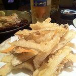 魚や一丁 - 海老とごぼうの天ぷら(海老なし?)¥480−