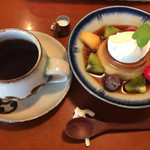 72010577 - プリンとコーヒー