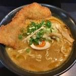 高円寺 餃子BAR Shinya麺 - 「バラカツ入伽辣麺」