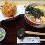 72012935 - 桜天+玉子とじ うどん
