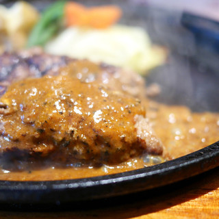 グリルK - 料理写真:炭火焼ハンバーグ クイーン(260g)