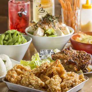 激うまチキンの宴会コースは2980円~!各種宴会に!