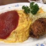 キクヤレストラン - オムコロ 1000円。