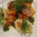 小林食堂 - 真鯛のソテー アオリイカのフリット ラタトゥイユ添え