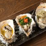 焼き牡蠣3種盛