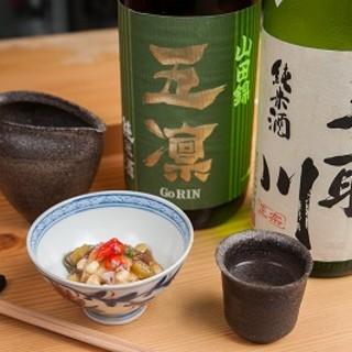 ~軽く一杯どうぞ~寿司に合う日本酒・焼酎・ワインをご用意