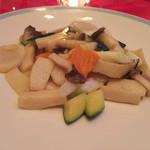 陽明殿 - 帆立貝と野菜の谷中生姜入り塩味炒め