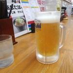 ラーメン幸雅 - 息子のビールと我輩の水…