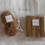 cinq - チーズスティック&木の実のオートミールクッキー