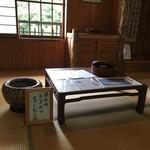 天下茶屋 - 太宰治が使用した机と火鉢('17/08/25)