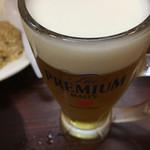 博多らーめん ShinShin - セット ビール 生は サントリー プレミアムモルツ