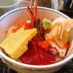麻布十番 もち玉 - 海鮮丼アップ